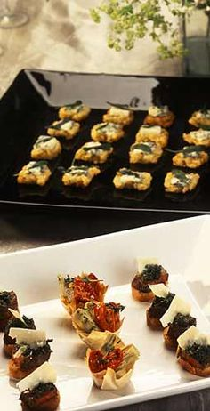 Canapes photo and list of finger foods