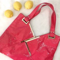 Diva Girl Purse Party Pink Vinyl Bag Flashy pop of color for your look! NWT, excellent condition! Bags Shoulder Bags