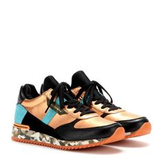 Leather-blend sneakers by Dolce & Gabbana