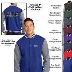 Fraternity Varsity Jacket - Twill on Back #fraternity #clothing #gogreek #somethinggreek #letterman
