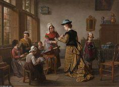 Peinture de Basile De Loose - Visite de la salle de couture ! http://www.petitpapy.fr/belles-images-10/ https://www.mixturecloud.com/media/cJxkqVbR