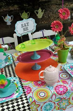 Photo 1 of Alice in Wonderland Mad Tea Party / Birthday (for future bday party) Mad Hatter Birthday Party, Mad Hatter Party, Mad Hatter Tea, Birthday Party Themes, Mad Hatters, Birthday Ideas, Birthday Table, Birthday Crafts, Chesire Cat