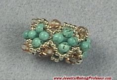 Jewelry Making Tutorials  Learn How To Make Jewelry - Beading & Wire Jewelry Classes : FREE Serpentine Ring Beading/Jewelry Making Tutorial