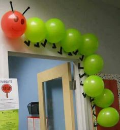 The Hungry Caterpillar in balloons