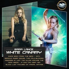 """Caity Lotz revealed Sara Lance has a new love interest in """"Legends of Tomorrow"""" Season 2 and teased a possible Earth 2 White Canary. White Canary Dc, Arrow Black Canary, Heroes Dc Comics, Marvel Dc Comics, Legends Of Tommorow, Dc Legends Of Tomorrow, Supergirl Dc, Supergirl And Flash, Arrow Flash"""