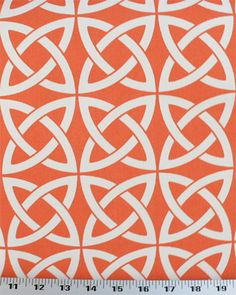 Linked In Orange - Indoor/Outdoor | Online Discount Drapery Fabrics and Upholstery Fabric Superstore!