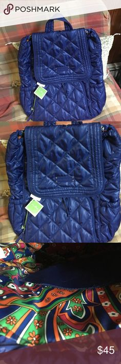 Brand new Vera Bradley backpack New Cobalt blue backpack from Vera Bradley.  It's beautiful lightweight and has many pockets Bags Backpacks