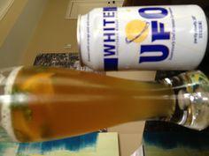 Fantastic hot day beverage - UFO with some muddled cilantro and orange peel