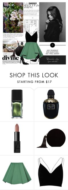"""""""Selena Gomez"""" by mars ❤ liked on Polyvore featuring Illamasqua, Alexander McQueen, NARS Cosmetics, MANGO, WithChic and River Island"""