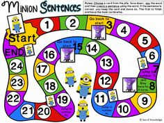 Minion Game: Can use with any vocabulary that students are learning or have learned!!