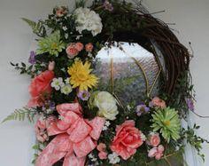 SALE SPRING GARDEN Wreath Summer Wreath Mother's Day