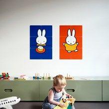 muurdecoratie fotocollage wanddecoratie nijntje mercis bv