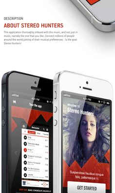 Stereo Hunters. iPhone Music  App by Maxim Eriomov, via Behance #mobileuidesign #mobileapp