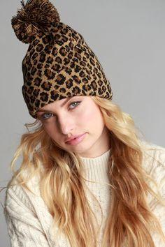 Leopard Print Pom Pom Beanie - Jess Lea Boutique - 2