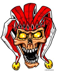 Skull Jester by grfxjams on @DeviantArt