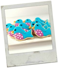 Decorated Blue Bird Sugar Cookies