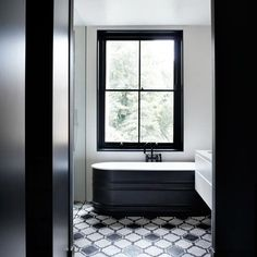See all our bathroom design ideas on HOUSE, design, food and travel by House & Garden. Glamorous monochrome bathroom.