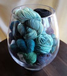 31 Days to Get Organized – Storing Yarn in a Clear Vase to Showcase Your Favorites