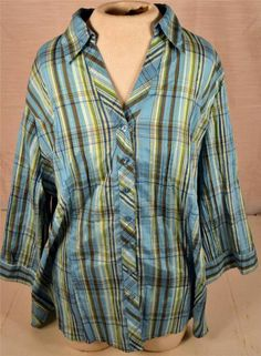 Beautiful Cato Womens Size 18/20W Multicolored 3/4 Sleeve Blouse #Cato #Blouse