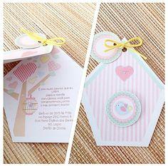 Convite personalizado com tema de Passarinhos - www.clakeka.blogspot.com