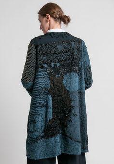 By Walid Beaded Gigi Coat in Almost Black