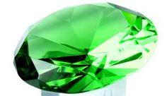Toto je smaragd, je zeleně zbarvený