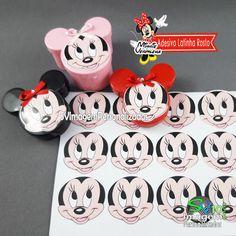 Minnie Vermelha dicas e ideias para decoração de festa personalizados latinha no formato da minnie Camila, Bb, Tin Cans, Manualidades, Trays