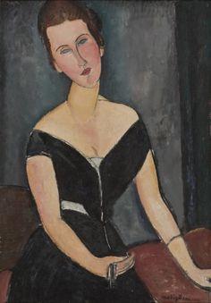 Amedeo Modigliani. Madame G. van Muyden. 1916-1917. São Paulo, Museu de Arte de São Paulo Assis Chateaubriand - MASP