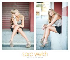 Love these sitting poses, esp. on left. {Sara Welch Photography}  #Senior #Portrait