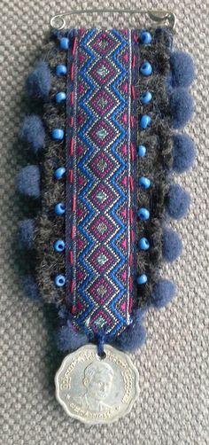 Medalla PIN/Bohemia textil. Azul de Marina de guerra. por VeronikB