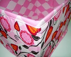 from Tutorial for collapsible fabric storage basket.