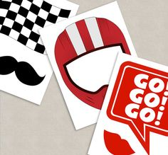 35 Race car themed party photo props racing car party decor