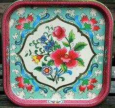 Vintage tin tray by Daher (made in England)#Repin By:Pinterest++ for iPad#