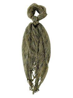 Collection Eighteen Women's Metallic Blend Fabric Net Scarf (Stonehenge, OS)
