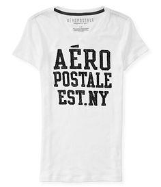 Camiseta Aeropostale Feminina AERO GLITTER SHINE - Branca  #aeropostale #aeropostalebrasil #roupasimportadas