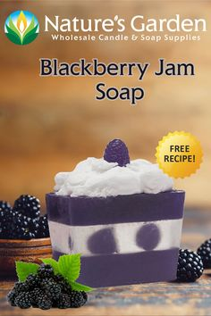 Free Blackberry Jam Soap Recipe by Natures Garden