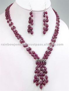 Source Stunning Designer Cabochon Oval Ruby Beads Necklace on m.alibaba.com