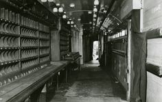 Inside the carriage after the Great Train Robbery. © Thames Valley Police