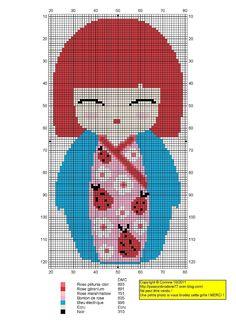 Kokeshi Japanese Doll Cross Stitch Pattern