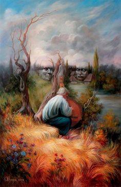 Mind-Bending Optical Illusion Portraits Ukrainian artist, Oleg...