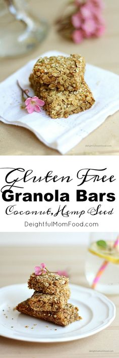 Coconut breakfast bars made with gluten free oats, unsweetened coconut flakes and low glycemic coconut sugar! So sweet, chewy and delicious you will be begging for these every single morning!