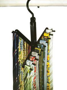 Rotating Tie Rack Adjustable Tie Hanger Holds 20 Neck Ties Organizer DR