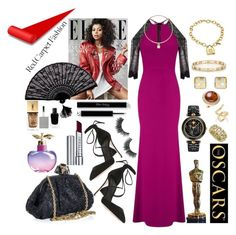"""TARAJI P. HENSON"" by seanahr ❤ liked on Polyvore featuring Roland Mouret, Dolce&Gabbana, Tiffany & Co., Versace, By Terry, Abellán New York, Jennifer Fisher, Retrò, Givenchy and Yves Saint Laurent"
