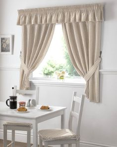 Farm sink and simple gingham curtains. … | Pinteres…