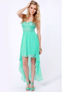 The Glisten to This Strapless Teal Sequin Dress has a stunning bustier bodice covered in sparkling sequins, plus a lightweight chiffon skirt with a high-low hem. High Low Prom Dresses, Grad Dresses, Birthday Dresses, Junior Dresses, Homecoming Dresses, Short Dresses, Bridesmaid Dresses, Bridesmaids, Sweet 16 Dresses