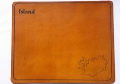 Mousepad in Sondergröße aus plazlich gegerbtem Leder mit Individualisierung...
