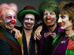 Happy Halloween from the Rolling Stones. Charlie Watts, Keith Richards, Mick Jagger, Ronnie Wood