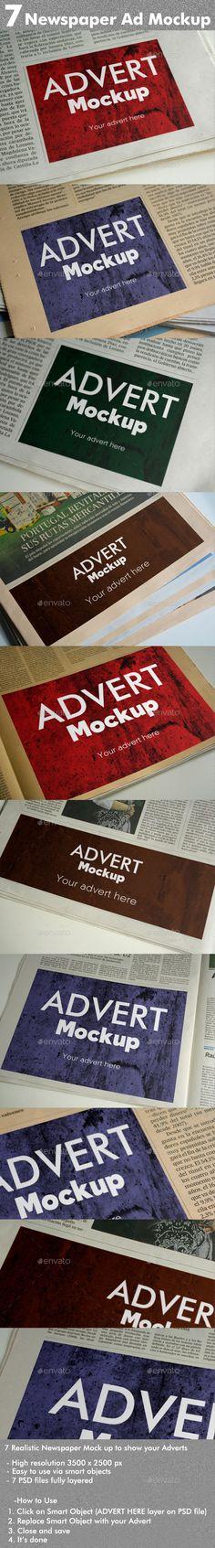 7 Newspaper Ad Mockups
