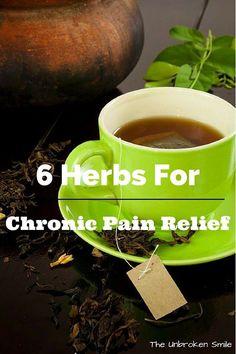 Herbs for chronic pain relief - tumeric - ginger - white willow bark. Very helpful!