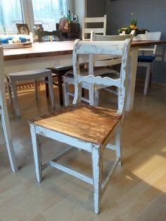 Stuhl shabby vintage Bauernstuhl antik von LIVINGsten auf DaWanda.com